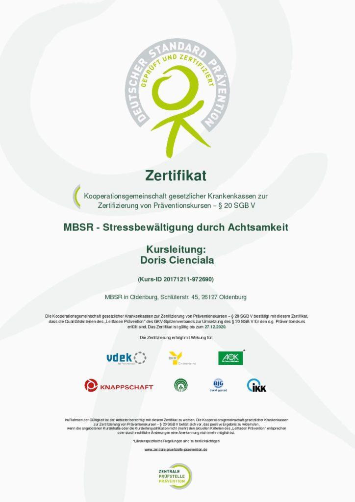 MBSR in Oldenburg - Doris Cienciala
