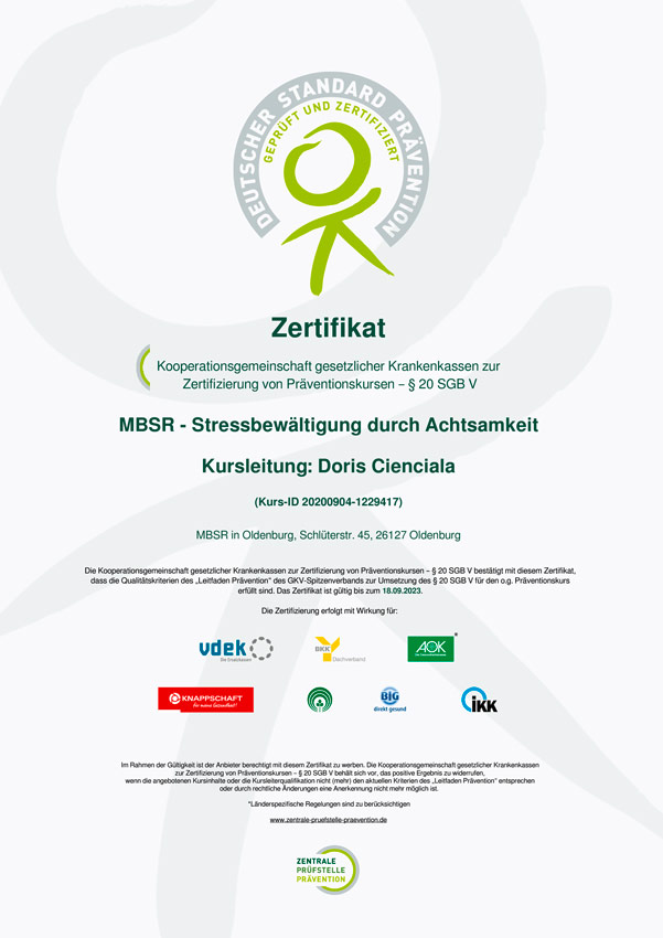 MBSR-Zertifikat-Doris-Cienciala-Oldenburg